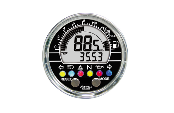 ACE-2000 sereis Multi-Function Speedometer, Digital LCD Display, Refinement and Classic.