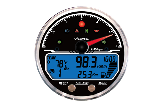 ACE-4000 sereis  Multi-Function Speedometer, with Digital LCD Display and needle gauge