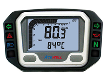 ACE-3000 sereis Digital LCD Display Multi-Function Speedometer