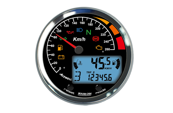 MA-085 Multi-Function Speedometer 85mm