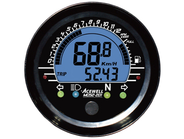 MD-052 Digital LCD Display Multi-Function Speedometer 52mm