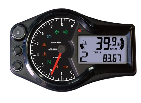 ACE-6000 sereis, multi functon speedometer, with needle for RPM